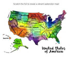 Usa Scratch Map by United States Of America Usa Us Watercolor Art Scratch