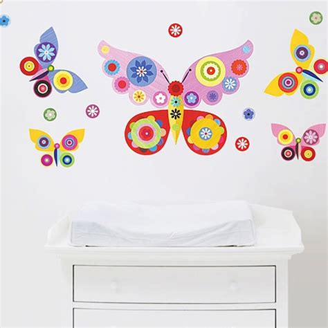 wall butterfly stickers butterfly removable fabric wall stickers