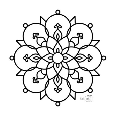 rangoli coloring pages printable five rangoli colouring pages printable digital sheets