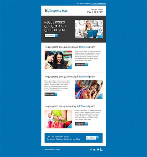 free templates for mailchimp 17 best editable mailchimp template newsletter images on