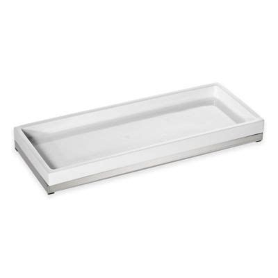 stainless steel bathroom tray buy bathroom trays from bed bath beyond