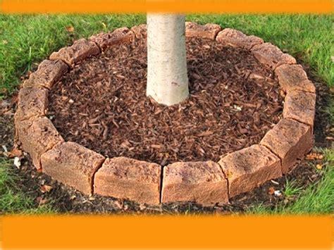 Baum Mit Steinen Umranden by Fast Easy Tree Mulch Ring Faux Edging Faux