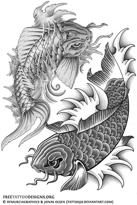 koi fish tattoo designs black and white black and white koi fish tattoos design