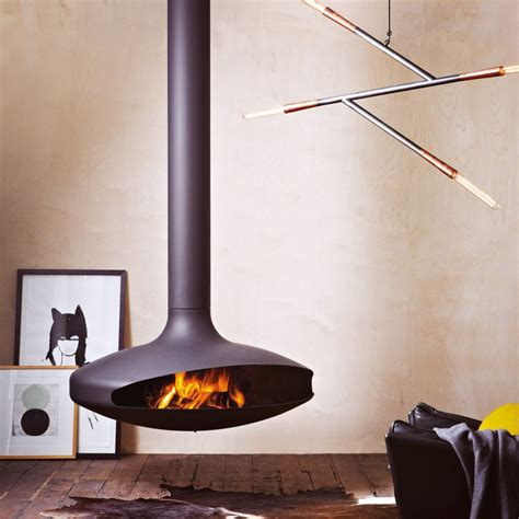 Suspended Fireplace by Modern Designer Fireplaces Wood Heaters Oblica Melbourne