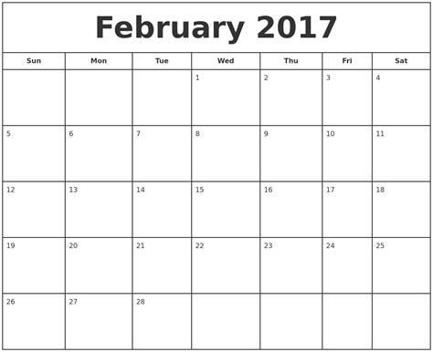free printable calendar software printable calendar 2017 january 2017 printable monthly calendar