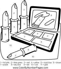 makeup coloring pages free make up artist coloring pages