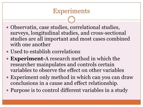 psychology cross sectional study psychology module 4