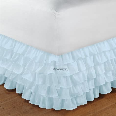 blue bed skirt aqua bed skirt ruffle valance 1000tc egyptian cotton wreycart