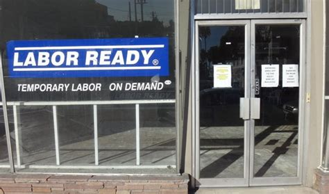 Labor Ready Corporate Office by Labor Ready Storefront In Park Closes Shop San