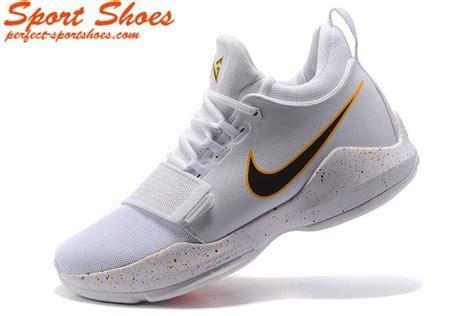 white basketball shoes nike zoom pg 1 paul george mens basketball shoes white black