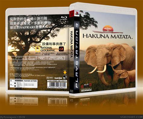 Sony Ps3 Hakuna Matata hakuna matata playstation 3 box cover by rossagues