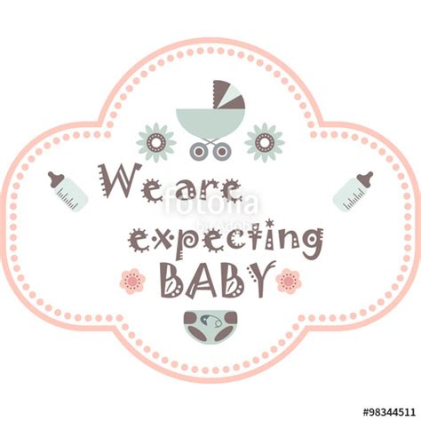 quot baby shower invitation card template we are expecting