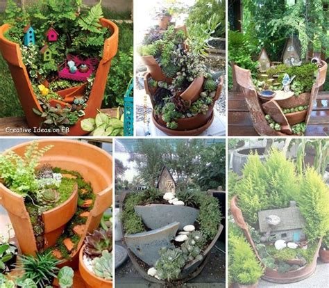 Pots In Gardens Ideas Mini Garden Ideas For Your Broken Pots