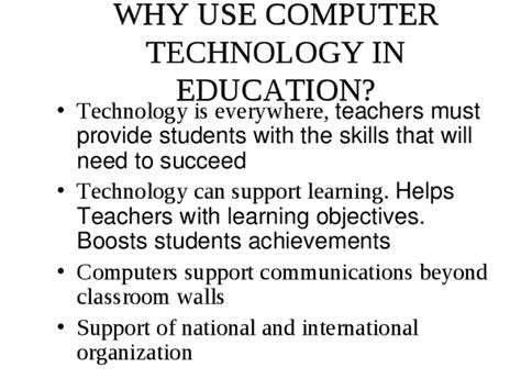 Computer In Education Essay by Technology In Education Essays