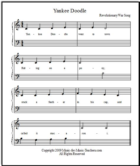 yankee doodle how to play on piano yankee doodle for beginning piano players