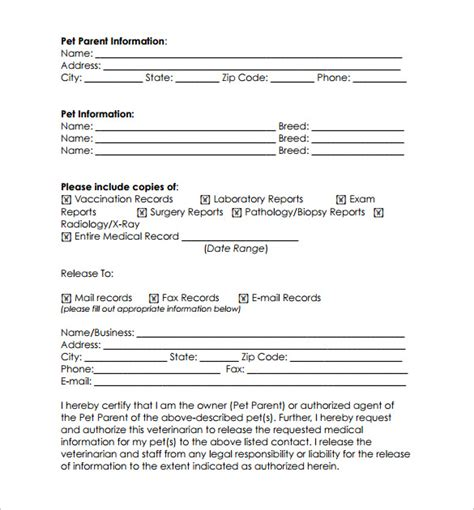 request for records form template 12 records request forms free sles exles