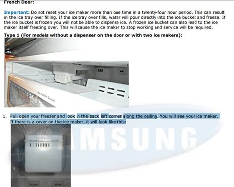 reset samsung ice maker how to reset the ice maker in samsung french door
