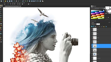 layout photo editing photo editing software paintshop pro 2018