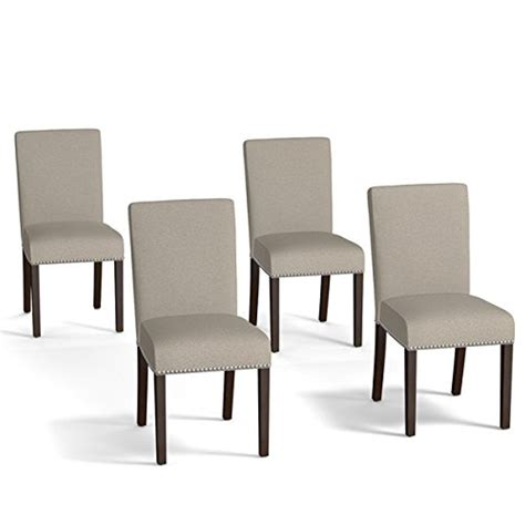 Upholstered Dining Chairs Set Of 4 Store Dining Chairs Accent Chair Transitional Style Brisbane Taupe Linen Upholstered
