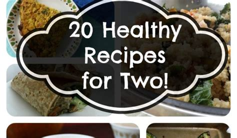 20 healthy recipes for two people