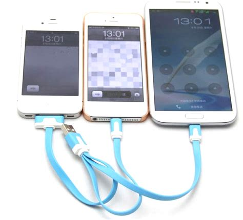 Kabel Data Charging 3 In 1 3 in 1 noodle charging cable micro usb lightning 30 pin