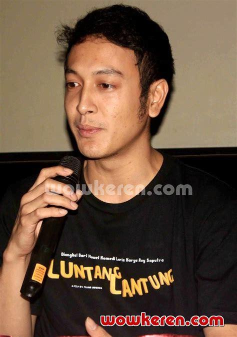 Film Dimas Anggara Luntang Lantung | foto dimas anggara di jumpa pers film luntang lantung