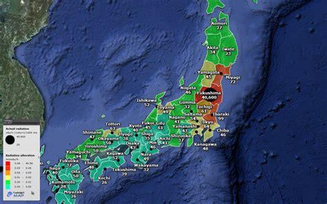 fukushima radiation map japan map of radiation alteration in japan after fukushima by do ken to fu targetmap