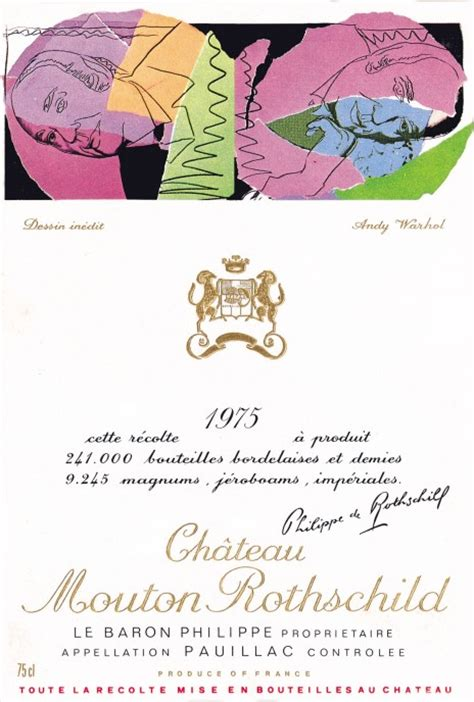 ch 226 teau mouton rothschild the labels room mouton rothschild 1975 andy warhol
