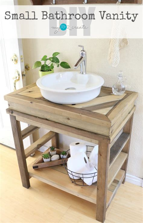 How To Make A Bathroom Vanity Diy Farmhouse Projects Link Cherished Bliss