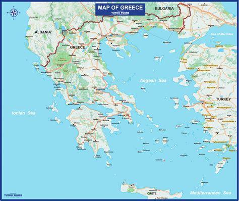 greece on map tutku tours greece maps