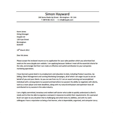 free sle cover letters for resumes 10 resume cover letter templates free sle exle