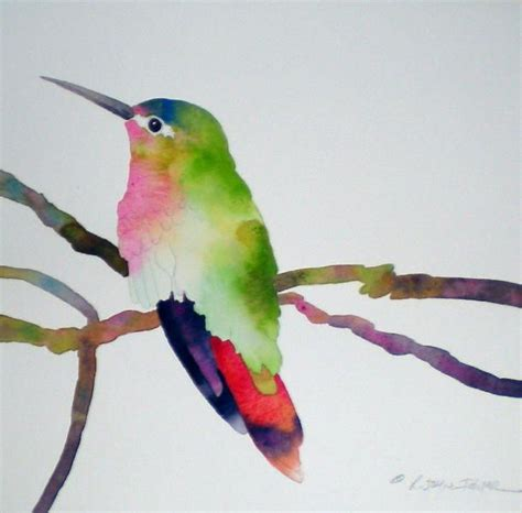 tutorial watercolor hummingbird 1000 images about bird egg feather nest on pinterest