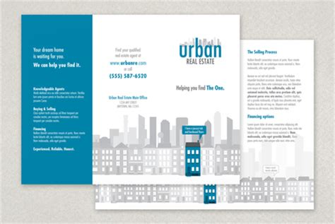 e brochure templates real estate brochure template inkd