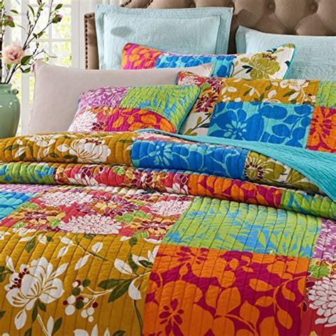 Colorful Coverlets Get Tache 100 Cotton 3 Pc Colorful Flower Power