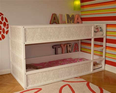 girly beds girly kura bunk bed ikea hackers