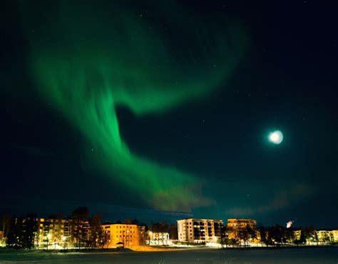 lapland finland northern lights northern lights in rovaniemi s sky