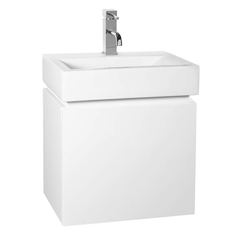 bunnings bathroom sinks cibo design 450mm white gloss pod wall hung vanity