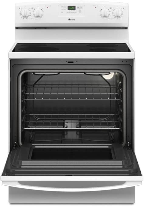 bottom drawer on electric oven amana aer5330baw 30 inch freestanding electric range with