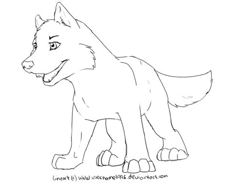 sleeping wolf drawings and coloring pages