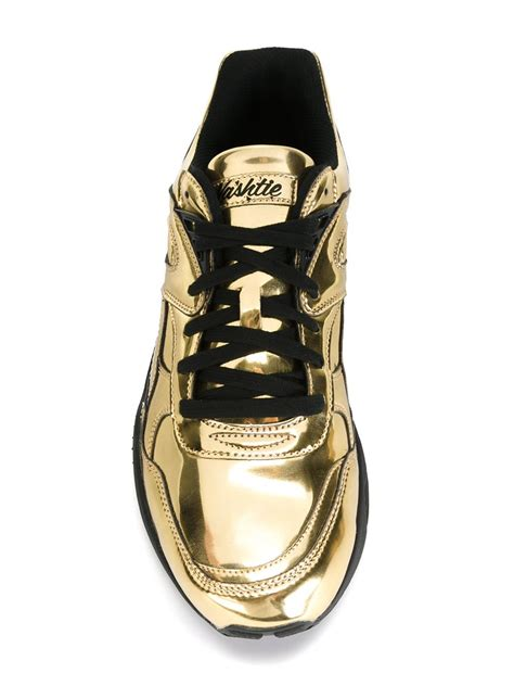 metallic gold sneakers x vashtie metallic sneakers in gold for metallic