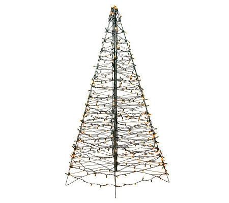 pre lit fold flat outdoor christmas tree by lori greiner