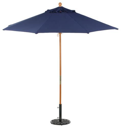 Outdoor Patio Umbrellas Sunbrella 9 Ft Octagon Sunbrella Market Umbrella Navy Blue Sunbrella Transitional Outdoor Umbrellas