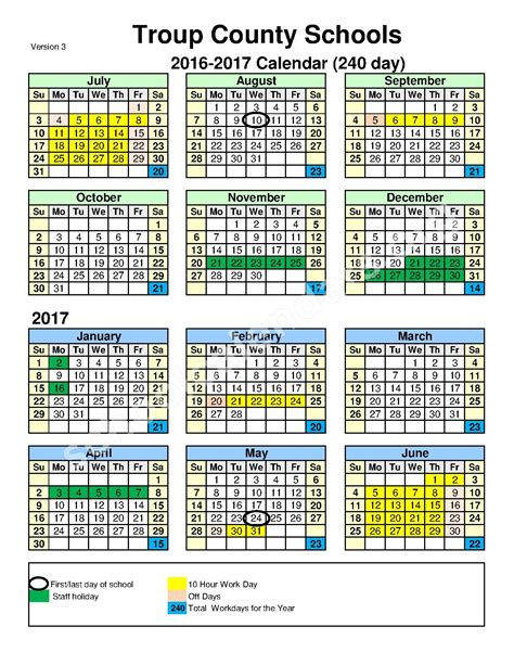County Ga School Calendar Troup County School District Calendars Lagrange Ga