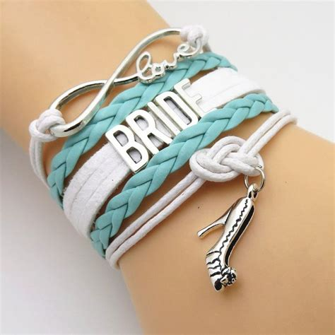 Infinity Love Mint Green Wedding Party Bracelets   Wedding bracelet, Bridal parties and Weddings