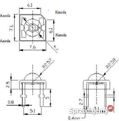 dioda led superflux dioda led 5mm flux piranha czerwona komplet 100 szt 32 zł sprzedajemy pl