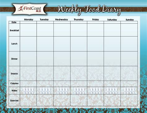 free weekly diary template calendar template 2016