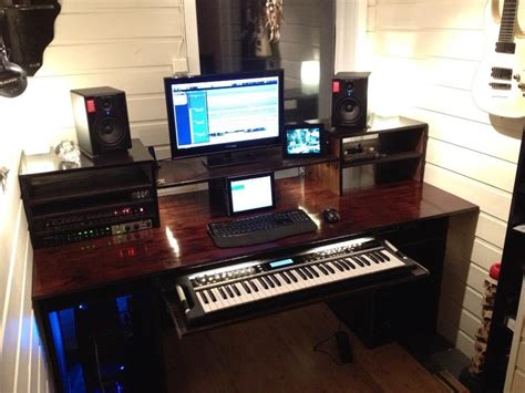 My Build A Home Studio Recording Desk Result Recording Studio Workstation Desk