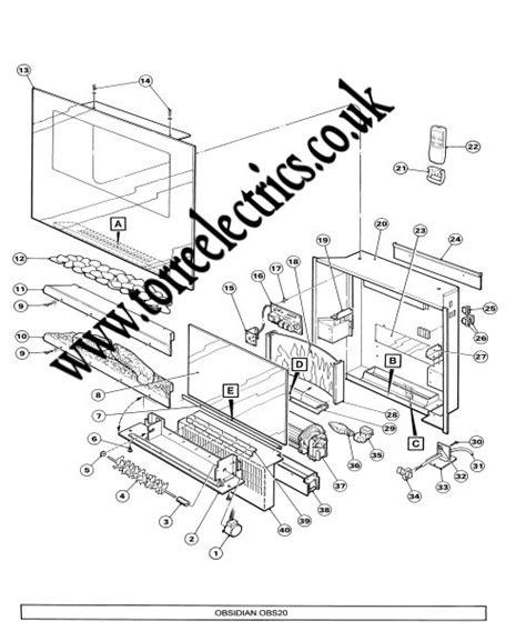 Dulit Toaster Dimplex Electric Fire Obisidan Obs20 Series A
