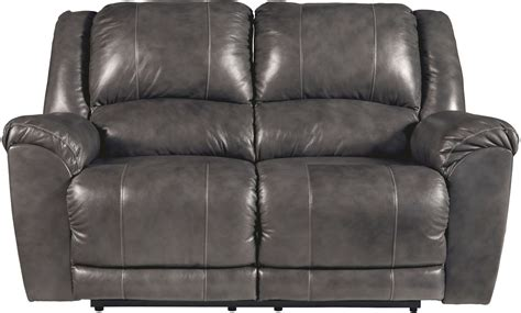 charcoal loveseat persiphone charcoal power reclining loveseat from ashley