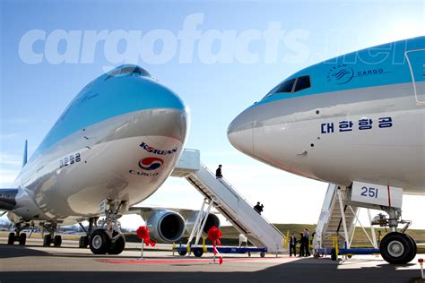 korean air 747 8f and 777f dual delivery cargo facts